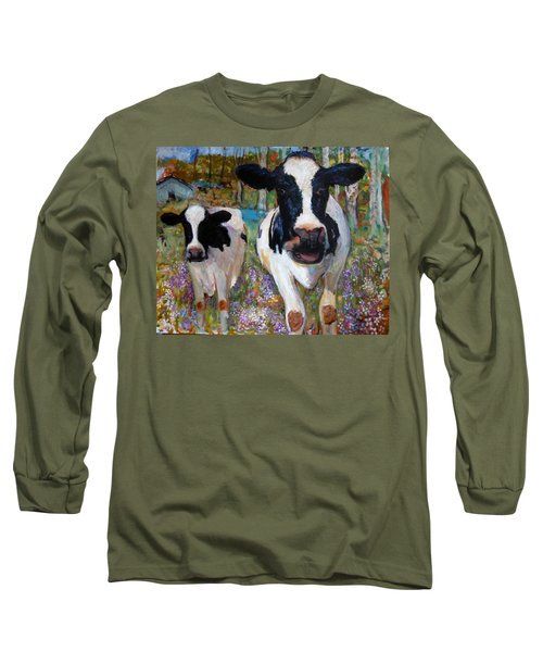 Up Front Cows Long Sleeve T-Shirt