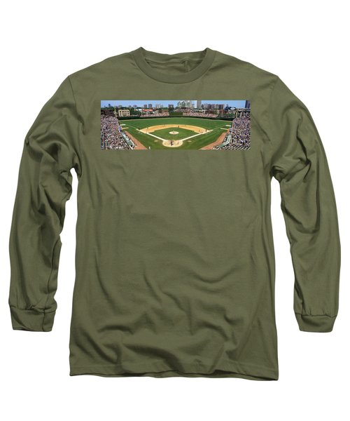Usa, Illinois, Chicago, Cubs, Baseball Long Sleeve T-Shirt