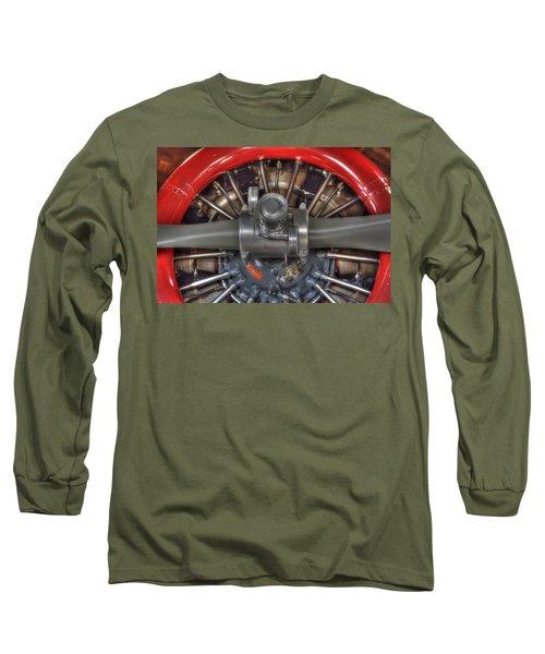 Vultee Bt-13 Valiant Propeller Long Sleeve T-Shirt