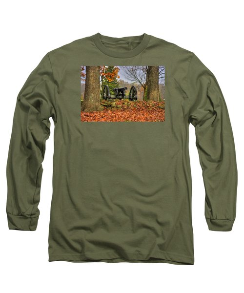 Long Sleeve T-Shirt featuring the photograph War Thunder - The Charlotte North Carolina Artillery Grahams Battery West Confederate Ave Gettysburg by Michael Mazaika