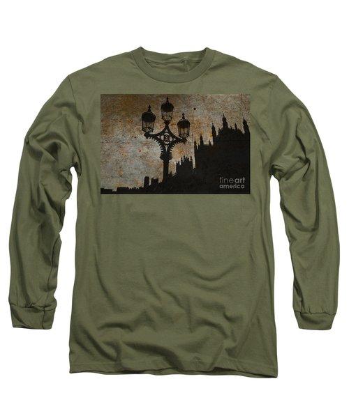 Long Sleeve T-Shirt featuring the digital art Westminster Silhouette by Matt Malloy