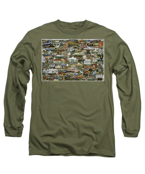 100 Painting Collage Long Sleeve T-Shirt by Jennifer Lake