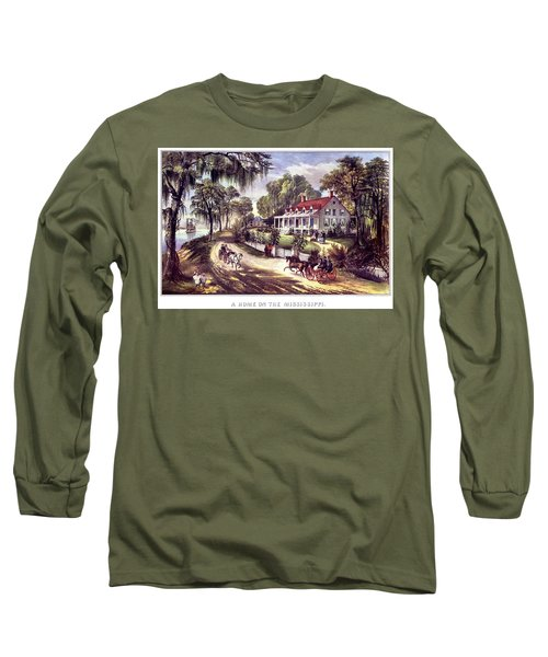 1870s 1800s A Home On The Mississippi - Long Sleeve T-Shirt