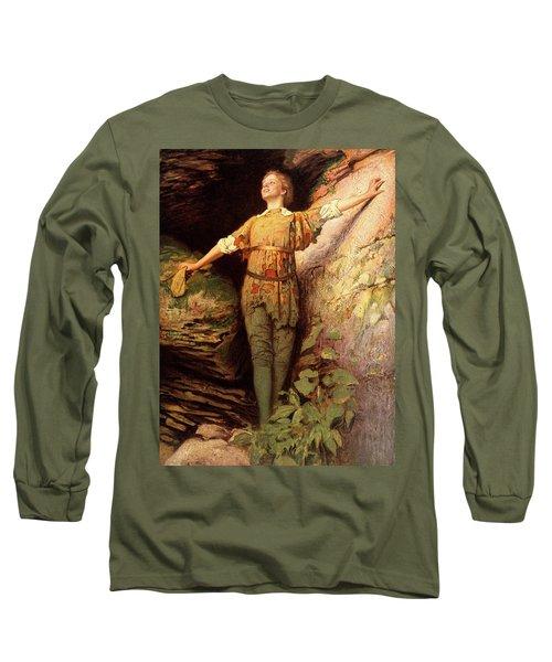 1900s Painting Of Actress Maude Adams Long Sleeve T-Shirt