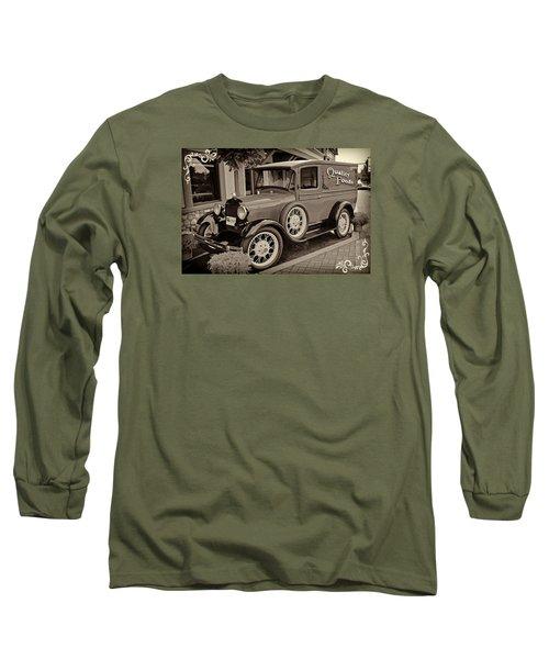 Long Sleeve T-Shirt featuring the digital art 1930 Ford Panel Truck by Richard Farrington
