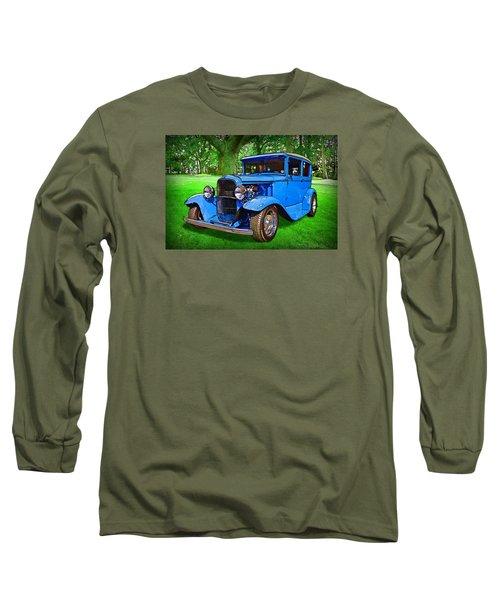Long Sleeve T-Shirt featuring the digital art 1930 Ford by Richard Farrington