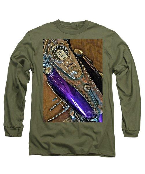1953 Purple Harley Panhead Long Sleeve T-Shirt