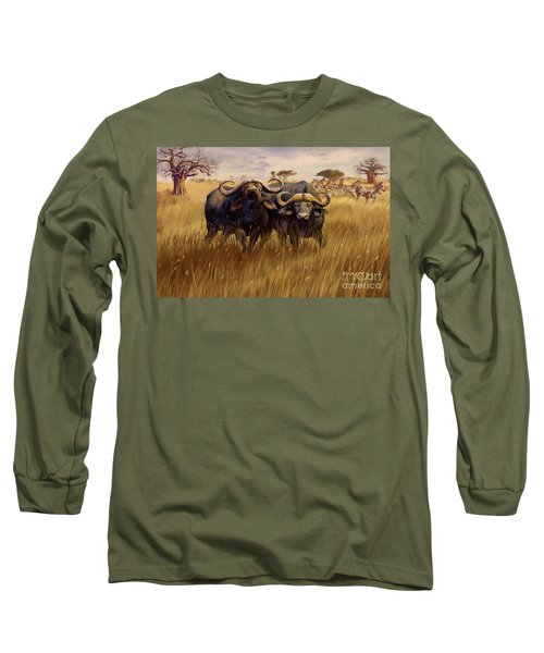 Long Sleeve T-Shirt featuring the digital art 2 Bad Duga Boys  by Rob Corsetti