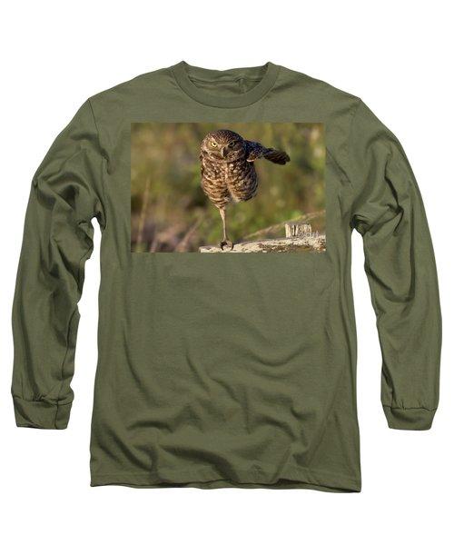 Burrowing Owl Photograph Long Sleeve T-Shirt by Meg Rousher