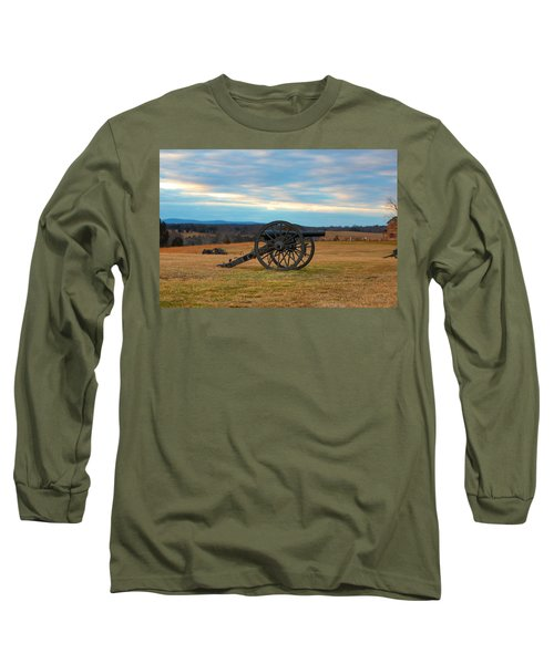 Cannons Of Manassas Battlefield Long Sleeve T-Shirt