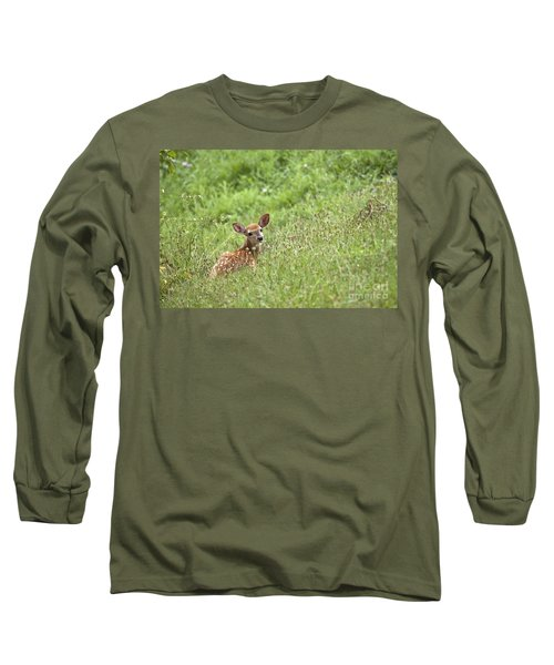 Long Sleeve T-Shirt featuring the photograph Fawn by Jeannette Hunt