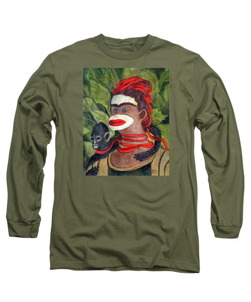 With Love To The Artist Frida Kahlo Long Sleeve T-Shirt by Randy Burns