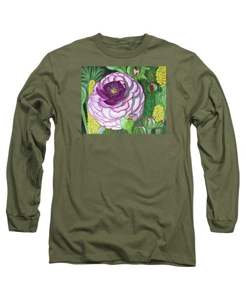 Garnet Punch Long Sleeve T-Shirt by Donna  Manaraze