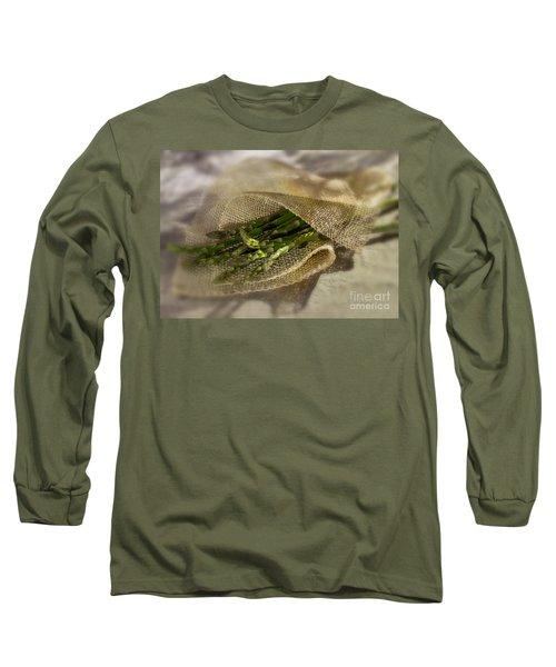 Green Asparagus On Burlab Long Sleeve T-Shirt