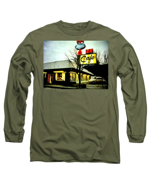 Long Sleeve T-Shirt featuring the painting I Went For Breakfast At The Double R by Luis Ludzska