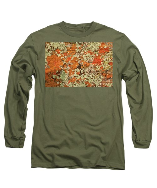 Long Sleeve T-Shirt featuring the photograph Lichen Abstract by Mae Wertz