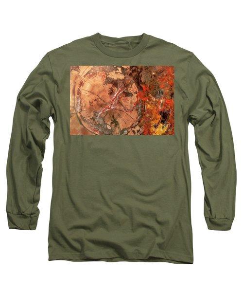 Petrified Wood Detail Long Sleeve T-Shirt