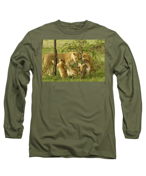Playing With Mom Long Sleeve T-Shirt