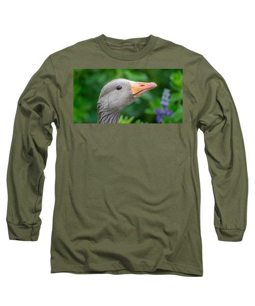 Portrait Of Greylag Goose, Iceland Long Sleeve T-Shirt