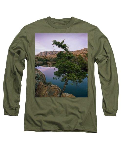 Post Oak Lake And Elk Mountain Long Sleeve T-Shirt