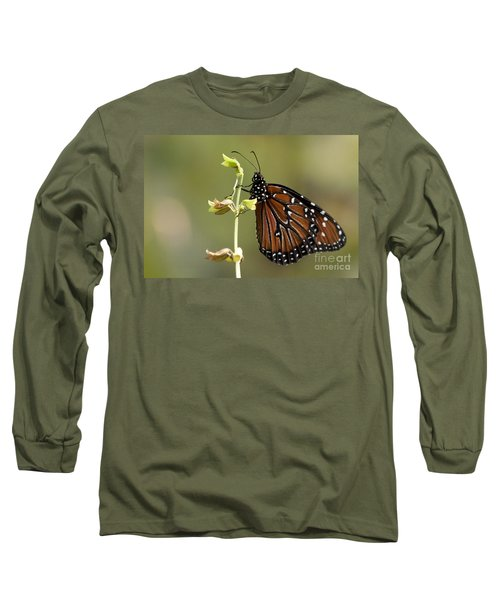Long Sleeve T-Shirt featuring the photograph Queen Butterfly by Meg Rousher