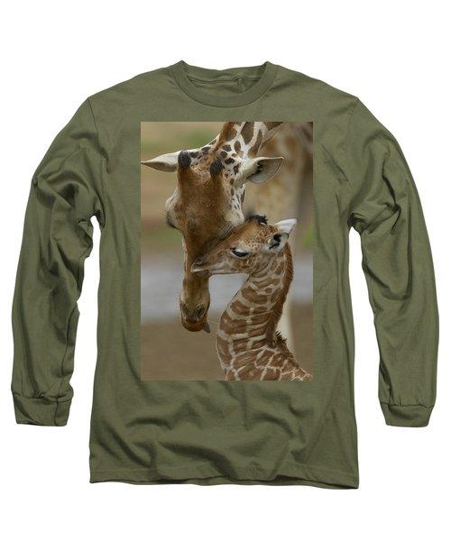 Rothschild Giraffe And Calf Long Sleeve T-Shirt