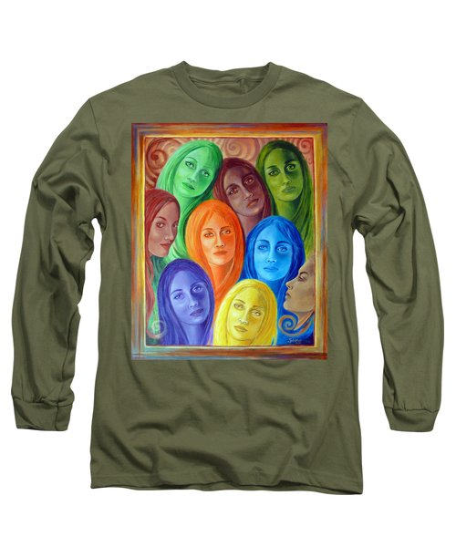 Serene Sisters Long Sleeve T-Shirt by Sylvia Kula