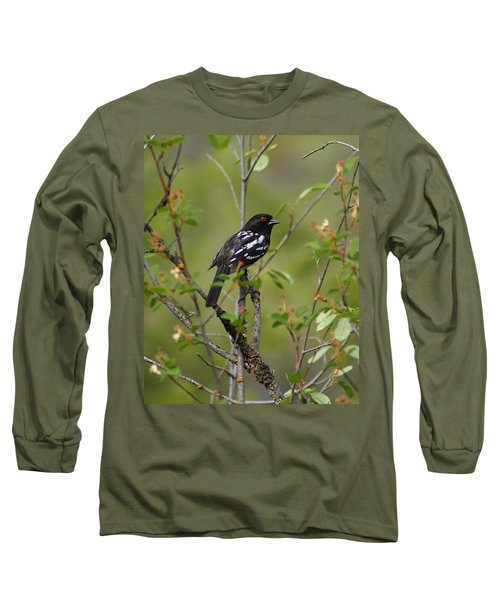 Spotted Towhee Long Sleeve T-Shirt