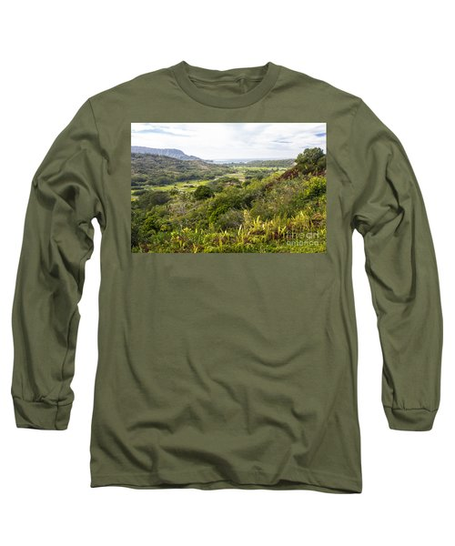 Long Sleeve T-Shirt featuring the photograph Taro Fields by Suzanne Luft