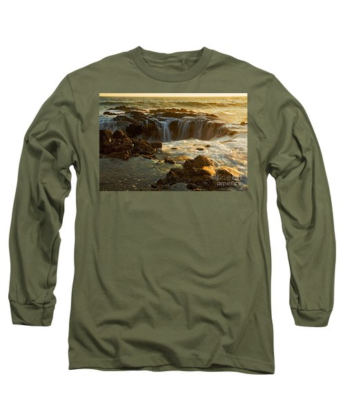 Thor's Well Long Sleeve T-Shirt by Nick  Boren