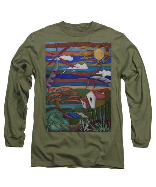 Tiempos Y Remembranzas Long Sleeve T-Shirt by Oscar Ortiz