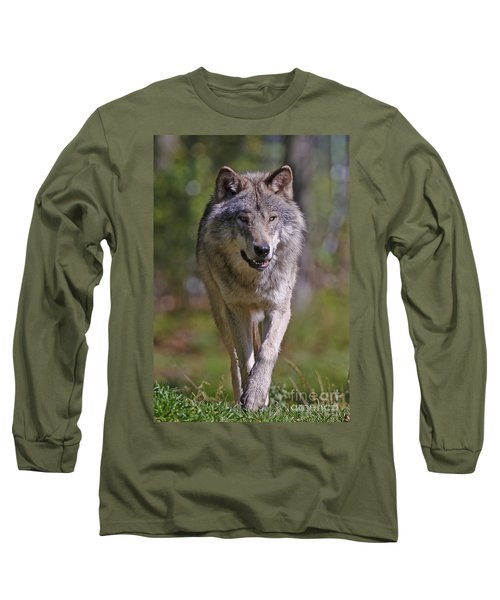 Long Sleeve T-Shirt featuring the photograph Timber Wolf  by Wolves Only