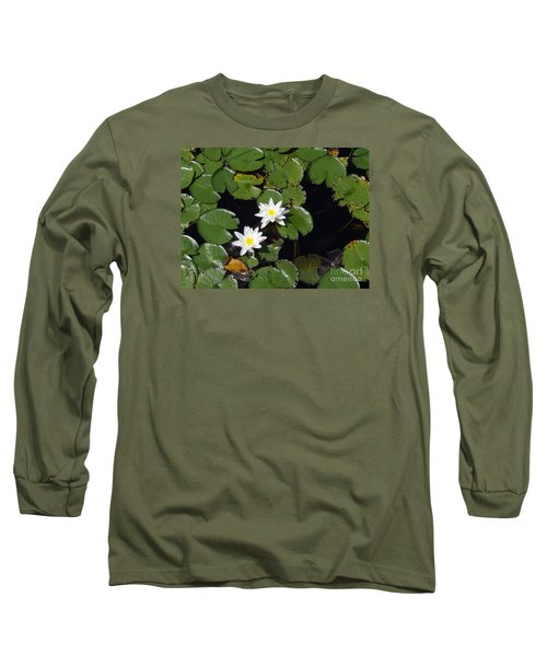 Long Sleeve T-Shirt featuring the photograph 2 Water Lily by Robert Nickologianis