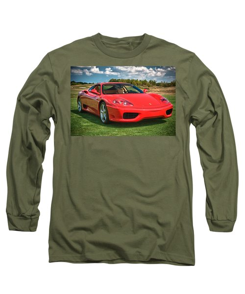 2001 Ferrari 360 Modena Long Sleeve T-Shirt by Sebastian Musial
