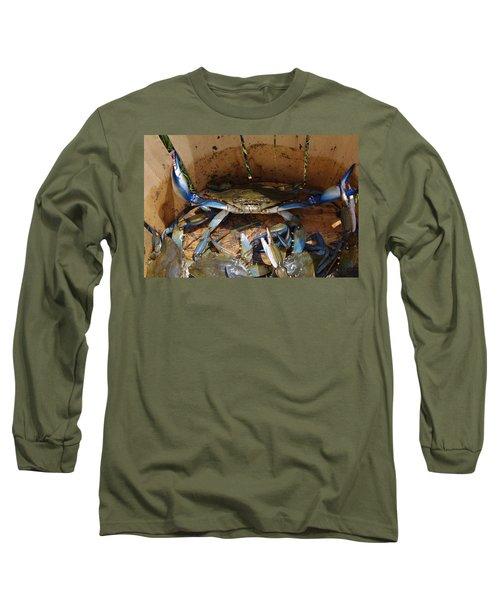 24 Crab Challenge Long Sleeve T-Shirt by Greg Graham