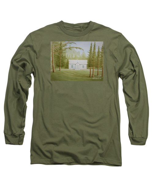 Long Sleeve T-Shirt featuring the painting A North Carolina Church by Stacy C Bottoms