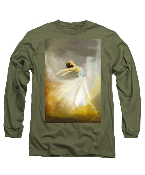 Ballerina  Long Sleeve T-Shirt by Corporate Art Task Force