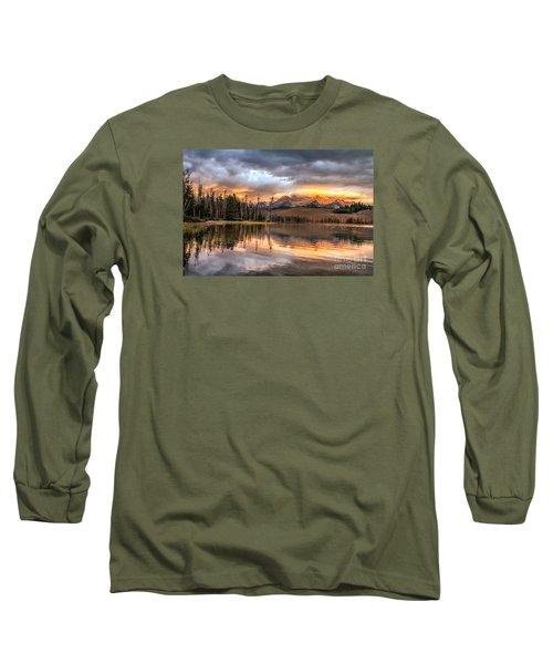 Golden Sunrise Long Sleeve T-Shirt by Robert Bales
