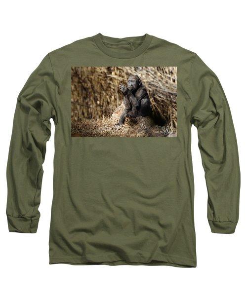 Quiet Juvenile Gorilla Long Sleeve T-Shirt