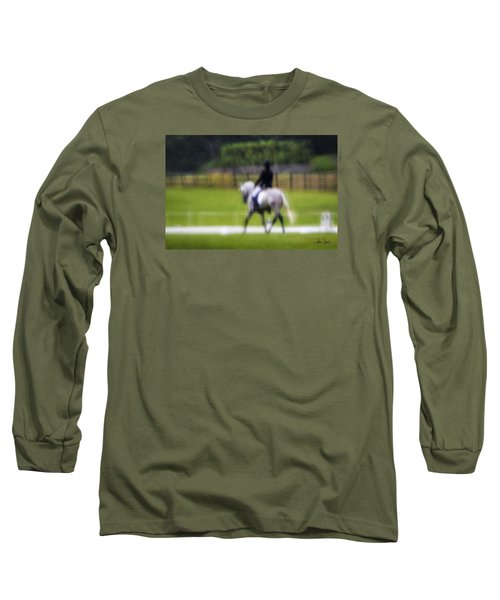 Long Sleeve T-Shirt featuring the photograph Rainy Day Dressage by Joan Davis