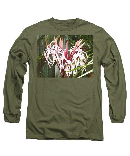 Queen Emma Crinum Lilies Long Sleeve T-Shirt