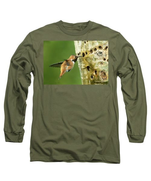 Rufous Hummingbird Long Sleeve T-Shirt