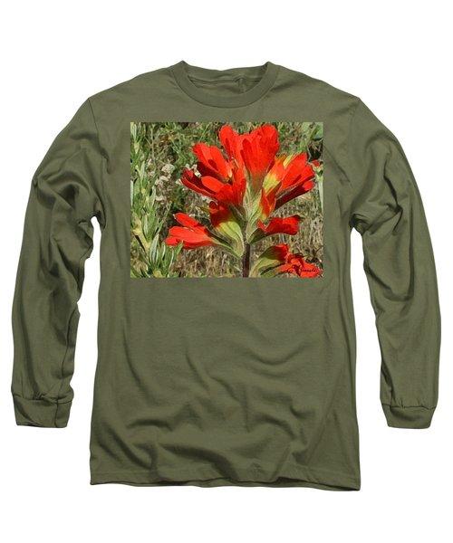 Texas Paintbrush Long Sleeve T-Shirt by Ellen Henneke