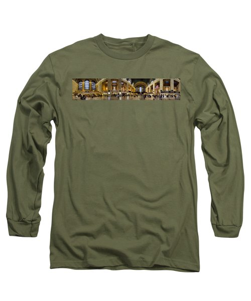 360 Panorama Of Grand Central Terminal Long Sleeve T-Shirt by David Smith