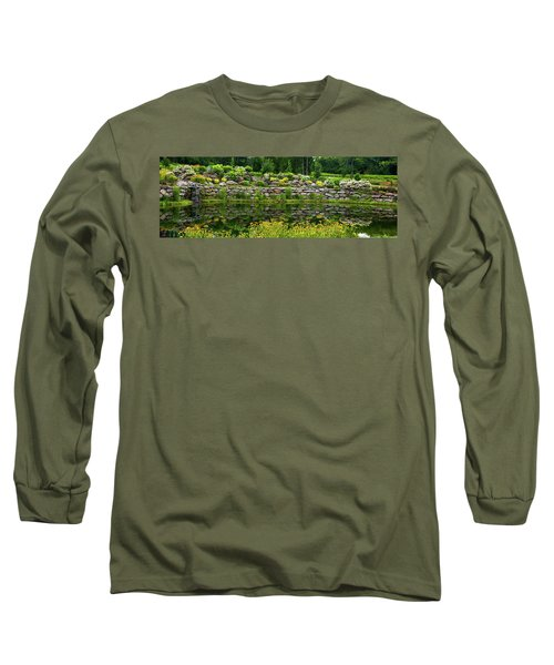 Rocks And Plants In Rock Garden Long Sleeve T-Shirt