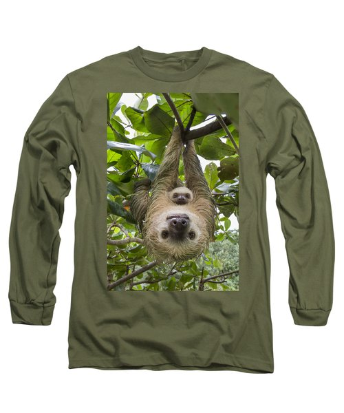 Hoffmanns Two-toed Sloth And Old Baby Long Sleeve T-Shirt