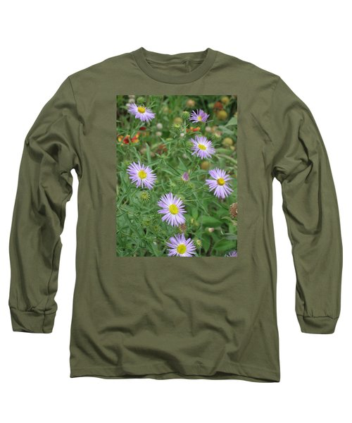 6 Asters Left Long Sleeve T-Shirt