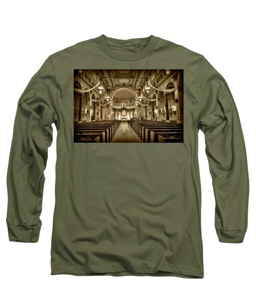 Holy Cross Catholic Church Long Sleeve T-Shirt by Amanda Stadther