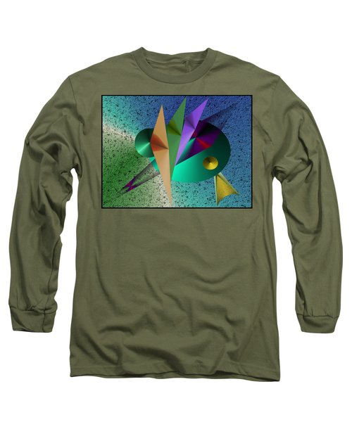 Abstract Bird Of Paradise Long Sleeve T-Shirt