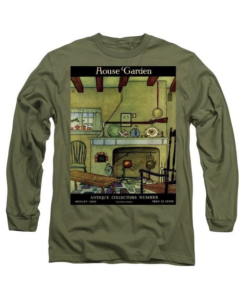 A 1920's Idea Of A Colonial Kitchen Long Sleeve T-Shirt